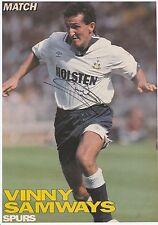 Vinny samways Tottenham Hotspur 1986-1994 mano originale firmato PICTURE