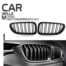 For BMW M6 F06 F12 F13 2012-17 Front Grille Grill Matte Black 640i 650i 6-Series