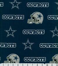 NFL DALLAS COWBOYS BLUE 100% COTTON FABRIC 16X58 INCHES