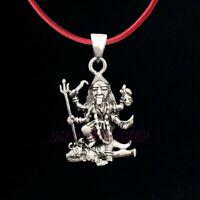 Kali Shiva Silver pendant Sterling Silver 925 Hindu Goddess protection amulet Maa Durga Chamunda Kaali Aadishakti Yogini Pendant