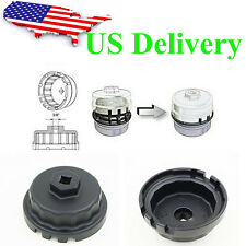 Black Oil Filter Housing Tool Remover Cap Wrench Fits Toyota Lexus 6-8 cyclinder