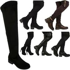 Unbranded Textile Low Heel (0.5-1.5 in.) Boots for Women