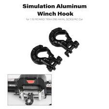 2Pcs Warn 1/10 Premium Winch Hook Simulation Trailer Hook RC Car Part Set