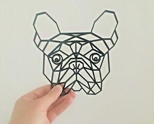 Geometric French Bulldog Frenchie Dog Pet Animal Wall Art Decor Hanging