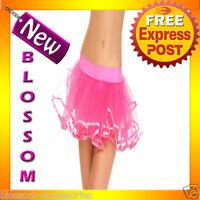 Fancy Dress Costume Pink Petticoat Tutu Skirt 8 - 14