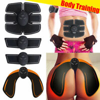 Electric Muscle Toner EMS Machine Wireless Toning Belt 6 ABS Fat Burner Butt New
