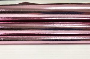 METALLIC PINK  Italian Lambskin leather hide skin pelt  skins hides 7sqf