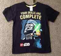 NEW Genuine Licensed Boys LEGO BLACK STAR WARS Summer T-shirt - Sizes 4,5,6 & 7