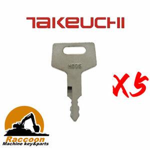 5pcs H806 Fits Case Takeuchi Hitachi New Holland Gehl Keys 17001-00019 180845