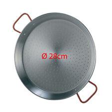 28cm Polished Steel Paella Pan Paellera Valenciana