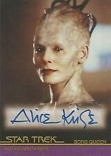 """Star Trek Movies In Motion - A47 Alice Krige """"Borg Queen"""" Autograph Card"""