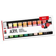 Marabu Acrylfarben Set BASIC auf Wasserbasis 32 x 3,5 ml / 2 x 59 ml