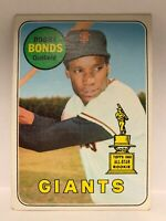 1969 Topps High Number #690 Bobby Bonds All-Star Rookie Cup RC Card Giants