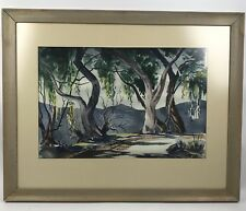 original watercolor painting landscape framed Arthur McWhorter 20th Century USA