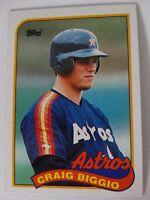 1989 Topps Craig Biggio Houston Astros Wrong Back Error RC Rookie Baseball Card