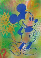 Mickey Mouse Original Graffiti Stencil Street Art Painting Canvas Board A4