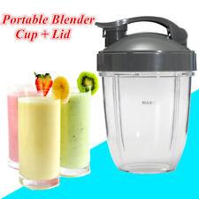 18OZ Juice Blender Cup + Cover Lid &Sealing Ring Gasket For Nutribullet 600/900W