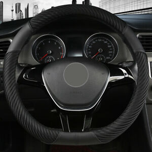 "15""38cm D Shape Car Steering Wheel Cover Anti-slip Grip Handle Massage Skin Feel"