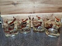 TasteSetters Double Old Fashioned Glasses with Quails Set of 4 (EUC)hard to find