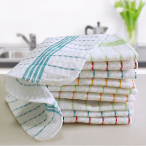 10PCS Cotton Kitchen Cloth Tea towel Dish Towels cleaning wipes Machine Washable