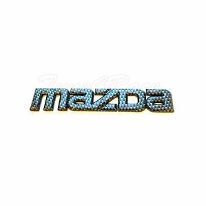 Mazda Logo Emblem Carbon Fiber OEM Genuine CF badge decal symbol Protege 626
