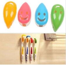 4pcs New Smile Face Toothbrush Cover Holder Case Suction Cup Bath Tube 6L