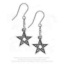 Pendientes articulados pentagrama Droppers Black Star E395 by Alchemy