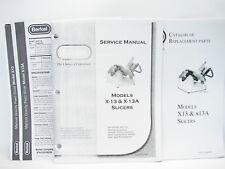 Berkel X 13 Amp X 13a Slicers Service Manual Parts Catalog Amp Specification Sheets