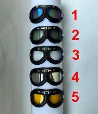 occhiali retro vintage modello aviatore casco aperto moto cross enduro vespa sci