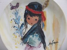 1987 Degrazia Children Of The Sun My Little Pink Bird Plate Signed Knowles