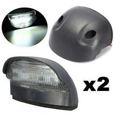 2X NUMBER PLATE LED LIGHT TRAILER BOAT CARAVAN CAR 10-30V 4LEDS SUBMERSIBLE