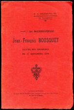 Escarguel : JEAN-FRANCOIS BOUSQUET VICTIME DES MASSACRES de 1792. Révolution