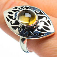 Large Citrine 925 Sterling Silver Ring Size 10 Ana Co Jewelry R29158F