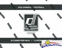 2020 Donruss Football Factory Sealed JUMBO FAT Pack Box-360 Cards! 48 Parallels!