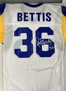 Jerome Bettis Signed Jersey AuthenticSt. Louis Rams Autograph JSA Vintage Sig #2