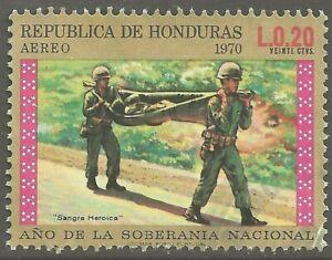 Honduras Año de la Soberanía Nacional Litter Bearers 1972 # C514  AIR MAIL  UNH