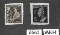 #2661   MNH stamp set / HEYDRICH & Adolph Hitler / WWII Germany / Third Reich