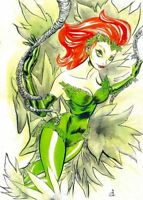 Poison Ivy Original Art Sketch Drawing 11 x 17