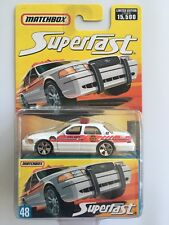 RARE 2006 Matchbox Superfast 2006 FORD CROWN VICTORIA FIRE CHIEF CAR - mint card