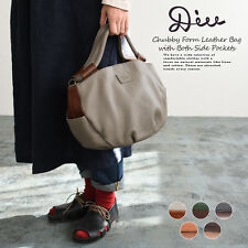 [Authentic from Japan] DIU Two Way Leather Tote Bag - Grey