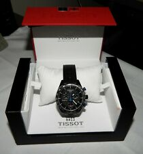 Tissot PRS 516 42mm Black Carbon Chronograph Dial Watch NEW T100.417.37.201.00