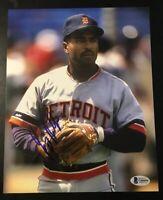 TONY PHILLIPS Signed Autographed 8x10 Photo Beckett BAS G66694 Dec'd Tigers