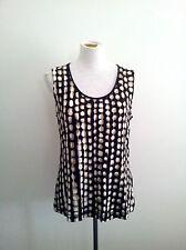 Pure Style! Riani size 44 black/beige & white viscose & elastane sleeveless tank