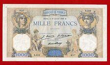 (Ref: R:818) 1000 FRANCS CÉRÈS ET MERCURE 16/01/1930 (TTB+)