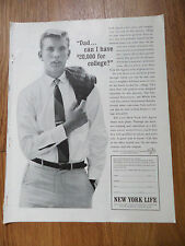 1962 New York Life Insurance Ad Dad can I have $20,000 for College?