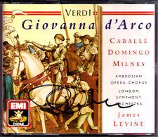 Placido Domingo SIGNED verdi GIOVANNA D'ARCO Montserrat Caballe James Levine 2cd