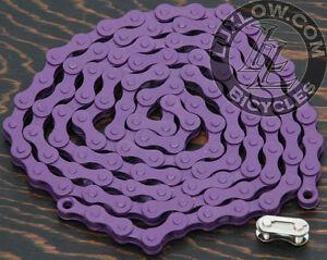 "Purple Single Speed Fixie Bicycle Chain YBN 1/2x1/8""112 Schwinn Cruiser Bike BMX"