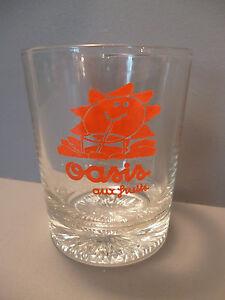 """verre de bar publicitaire ancien""""OASIS"""""""