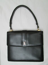 76baa466d030d -AUTHENTIQUE sac à main BURBERRY cuir TBEG vintage bag 60 s