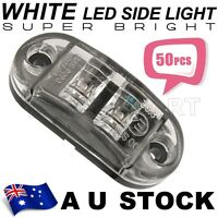 50X White Side Light LED Marker Trailer Truck Turn Clearance PC len 12V AU ship